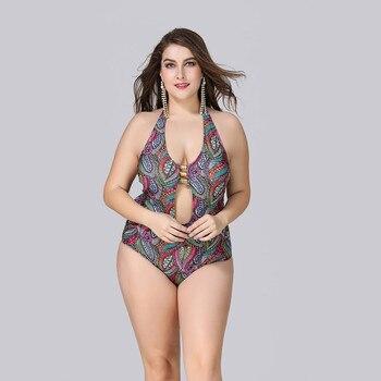 047392631b2cbb Large Size XL-5XL One Piece Swimsuit Swimwear Women 2019 Sexy—Free Shipping