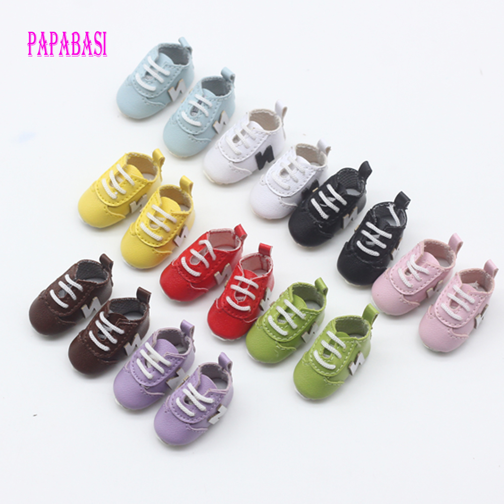 Pink High Top Lace-up Canvas Shoes Fits 1//6 Blythe Pulip Momoko AZONE Dolls