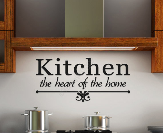 New Design Kitchen The Heart Of The Home Quotes Decal for Kitchen Dining Room Removable Vinyl Art Stickers B242