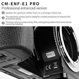 Image 5 - Commlite Lens adaptörü CM ENF E1 PRO otomatik odak lensi montaj adaptörü Nikon Tamron Sigma F dağı Lens için Sony E montaj kamera V06