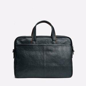 Image 4 - 2019 New Genuine Leather Mens Briefcase Business Black Leather Handbag Casual Shoulder Bag Large Capacity Computer Briefcases