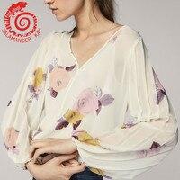Summer Women Chiffon Shirt New Arrivals Flare Long Sleeve Blouses Ladies Turtleneck Loose Ruffle Streetwear Tops White Pink 2018