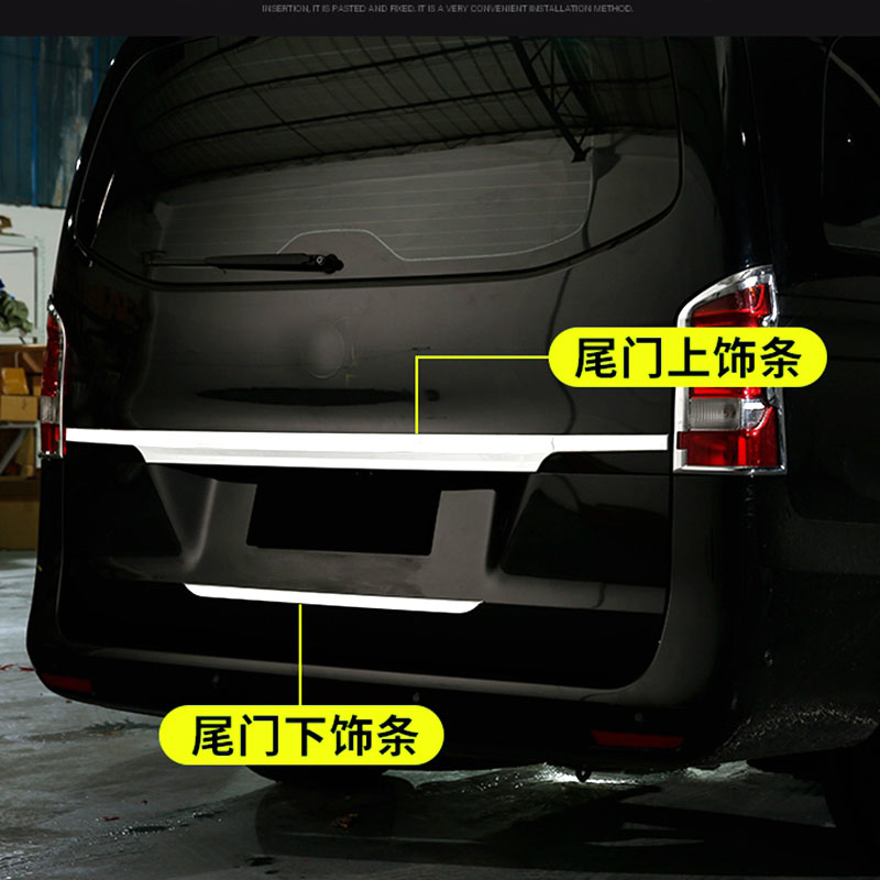 ABS Car Rear Tail Trunk Lid Cover Trim Tailgate Bottom Decoration Fit For Mercedes Benz NEW