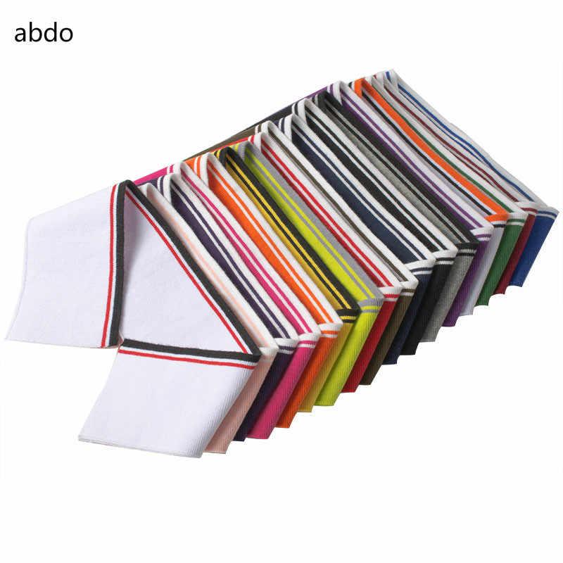 39*7CM pamuk örme ribana kumaş DIY t-shirt yaka bandı 16 renkler mevcut