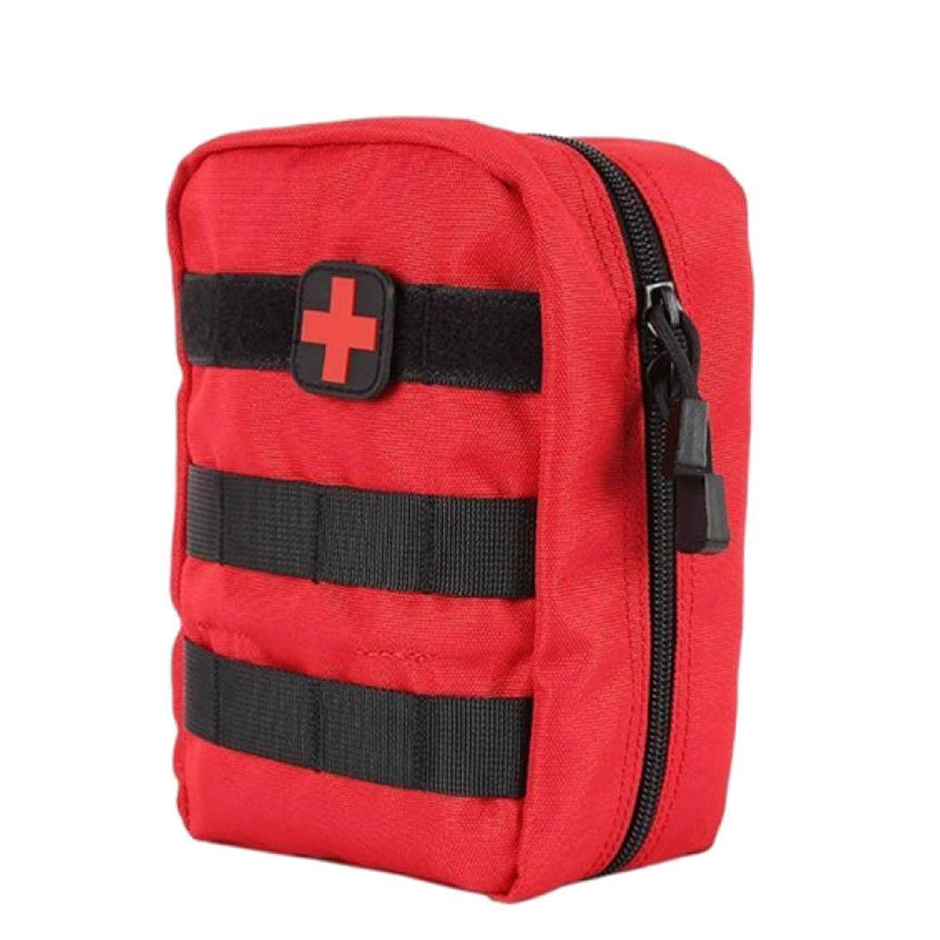 Outdoor Survival Tactical First Aid Emergency Medical Outdoor, Travel Patch Zipper Kits Square Bag