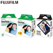10 100 feuilles Fujifilm Instax carré instantané blanc noir cadre Films pour Fuji SQ10 SQ6 partager SP 3 imprimante Photo caméra