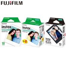10 100 fogli Fujifilm Instax Square bianco istantaneo nero cornice pellicole per Fuji SQ10 SQ6 condivisione della fotocamera della stampante della macchina fotografica della macchina fotografica