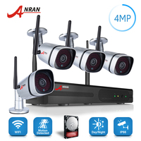 ANRAN Plug Play P2P 1440P HD Wireless Security Camera System 4CH 4 0MP WIFI Network NVR