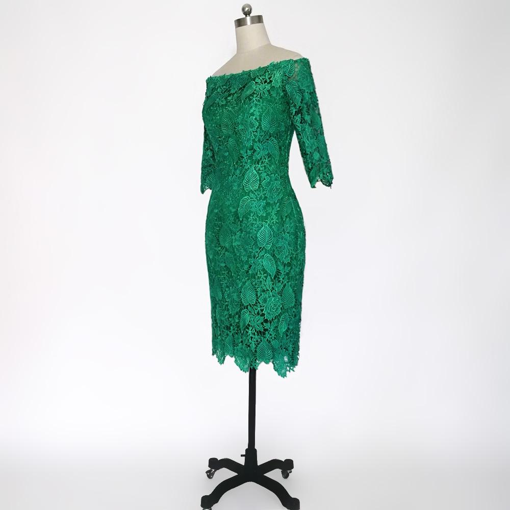 E JUE SHUNG Grønn Lace Off Shoulder Short Evening Dresses 3/4 - Spesielle anledninger kjoler - Bilde 3