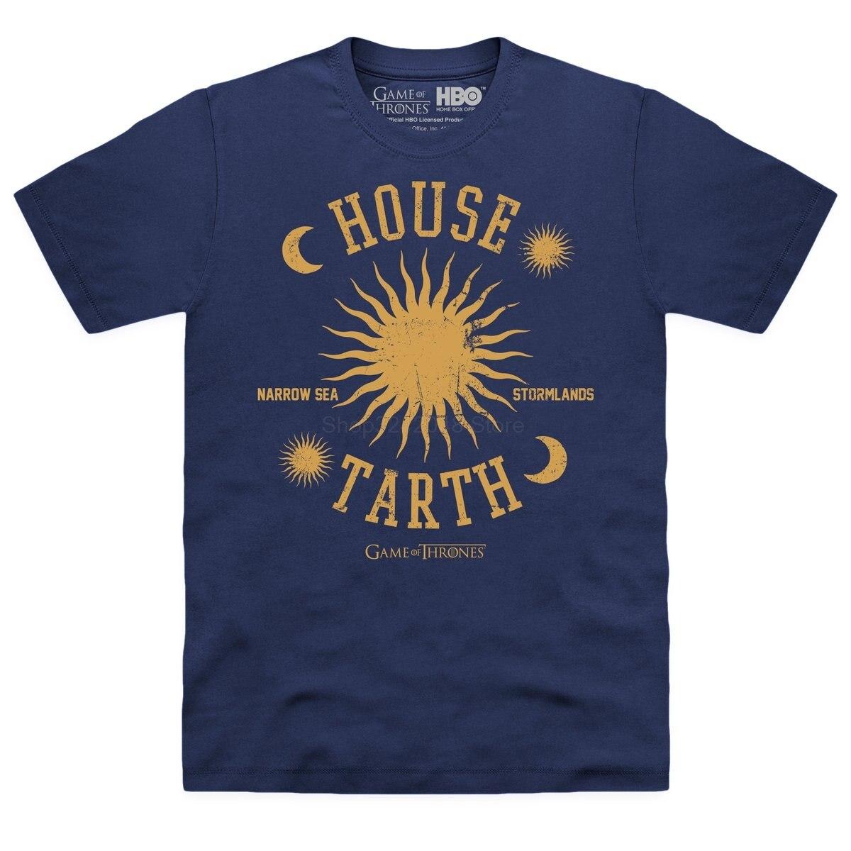 Gildan Brand Game Of Thrones - House Tarth T-Shirt 2019 Summer Short Sleeve T-Shirt