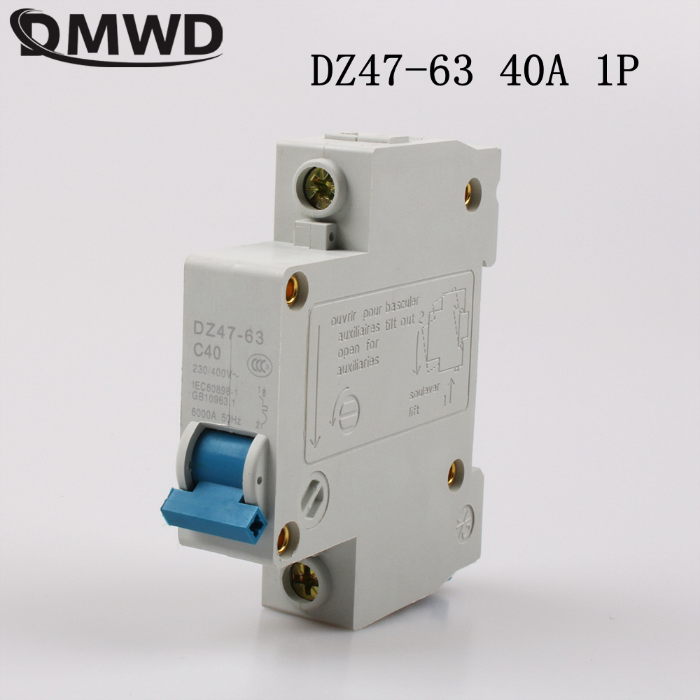 Dmwd Dz47 63 40a 1p Ac 230v Or 400v Mini Circuit Breaker Mcb Cutout Wiring Switch Chopper In Breakers From Home Improvement On