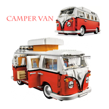 Fit  Ideas 10220 The T1 Camper Van Car Set 1334pcs Model Building Blocks bricks kits Toys for Children education gifts lightailing led light kit for t1 camper van building blocks toys light set compatible with 10220 and 21001 for kids gift
