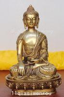 Tibet Tibetan Buddhis shakyamuni bronze On the back of the carved dragon buddha statue metal handicraft