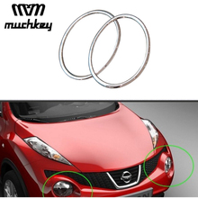 Car Styling Head font b Lamp b font Front Bumper Headlight Ring Trim Cover For Nissan
