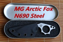MG Arctic Fox fixed blade knife N690 Blade KYDEX Sheath hunting straight camping survival outdoor EDC kitchen paring tool knife