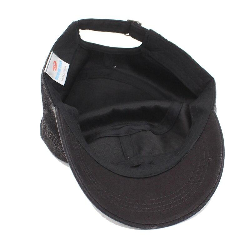 ea092f1e4503c AKIZON Fashion Men Military Hats Women Vintage Solid Flat Gorras ...