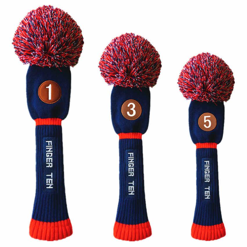 Набор головных уборов для гольфа набор Pom значение 3 Упаковка #1 #3 #5 Гибридный чехол для головки клюшки для гольфа покрывает все Премиум качество 4 цвета