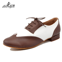 Ladingwu Free Shipping New Brand Modern Men's Ballroom Tango Waltz Latin Dance Shoes Microfiber Synthetic Leather Heel 2.5/4.5cm