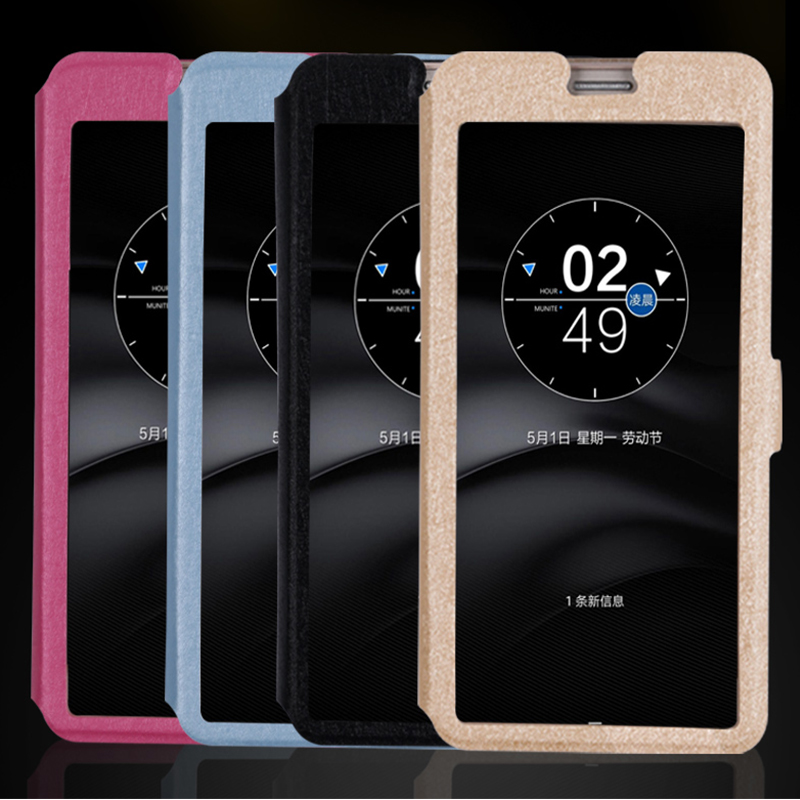 QIJUN Flip Transparent Window Case For HUAWEI Ascend P Smart Enjoy 7S 5 65 quot P Smart 2019 6 21 quot Touch View Stand Phone Cover in Flip Cases from Cellphones amp Telecommunications