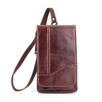for Blackview P10000 Pro bag Genuine Cow Leather Mini Casual Men's Waist Belt case For Blackview P10000Pro Phone bags