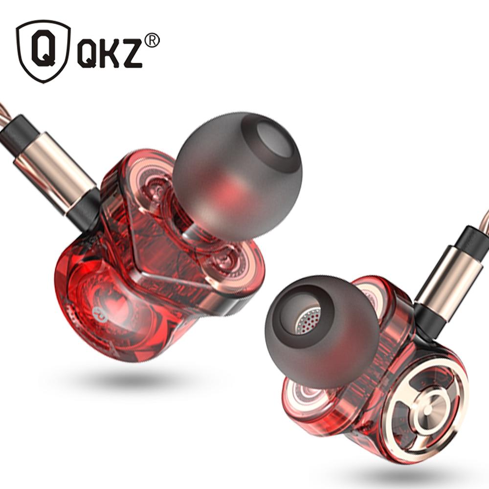Оригинальные наушники-вкладыши QKZ CK10, 6 динамических приводов, гарнитура, спортивные стереонаушники с микрофоном, Hi-Fi наушники с сабвуфером