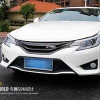 For Toyota Mark X Reiz Carbon Fiber Car Styling Front Bumper Grill Grille for toyota MARK X Style 2013 2016