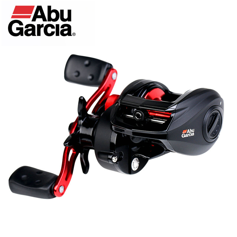 Original Abu Garcia negro Max3 BMAX3 cebo carrete de pesca de 6,4: 1 8 KG Max Drag tambor Trolling Baitcasting carrete de alta calidad