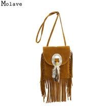 Фотография Naivety Women Bag Faux Suede Tassels Feathers Appliques Handbag Crossbody Shoulder Messenger Bags 28S7825 drop shipping