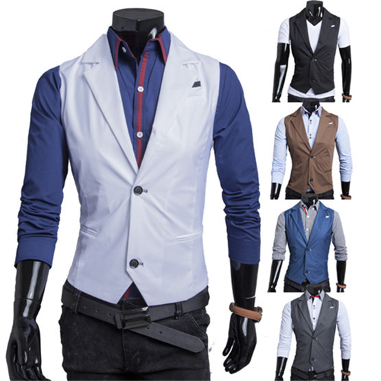 Aliexpress.com : Buy Fashion Suit Coat Collar Single Breasted Vest ...