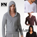 [1 Pcs dos homens Tops] 2017 N2N conforto roupas íntimas para homens dos homens de manga longa roupas de dança prática roupas pijama