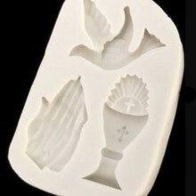 Силиконовая форма в форме голубя, силиконовая форма для помады декорирование тортов сахар, форма для выпечки