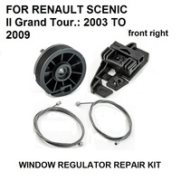 2003-2009 FOR RENAULT SCENIC GRAND TOUR II 2 WINDOW REGULATOR REPAIR KIT NEW FRONT RIGHT NEW PARTS