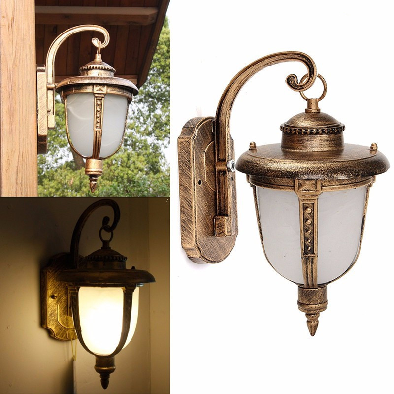 Lighting Products: 1x Antique Exterior Wall Light Fixture Outdoor Garden Lamp