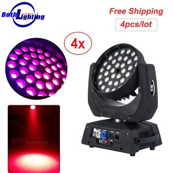 LED Yıkama Mini Hareketli Kafa Işık 36X10 W RGBW 4in1 zoom ile hareketli kafa yıkama DJ Sahne aydınlatma Parti Disko