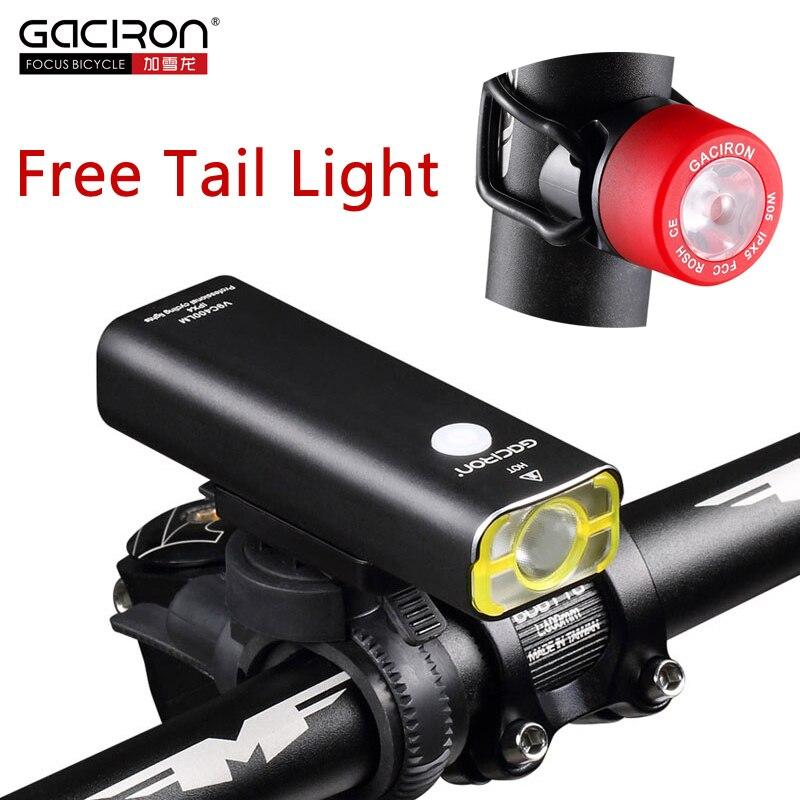 GACIRON Bicicleta de La Bici 400 Lúmenes Linterna LED USB Recargable Linterna ma