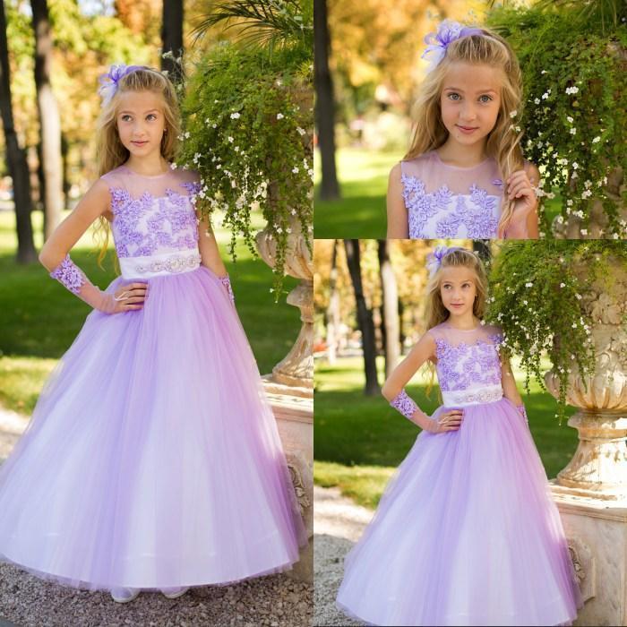 Lavender Flower Girls Dresses For Weddings Girls Pageant ...