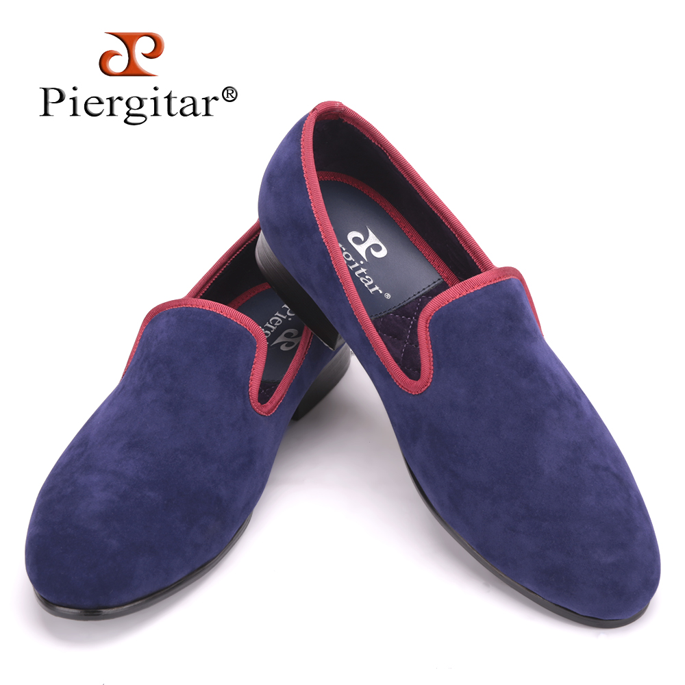 Men High-grade velvet shoes with different trim Men British style Handmade Casual loafers Party and Banquet smoking slippers men casual shoes green velvet loafers prince albert slippers handmade embroidered footwear
