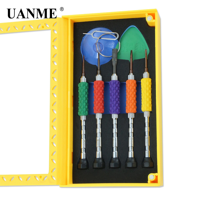 Купить с кэшбэком UANME 8pcs 1 Sets Opening Repair Tools Laptop Phone & Screen Disassemble Tools Set Kit For iPhone For iPad Cell Phone Tablet PC