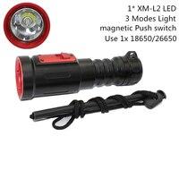 Scuba Diving Flashlight XM L2 LED Light 1200 Lumens Underwater Waterproof Torch Lamp Use 1x 18650