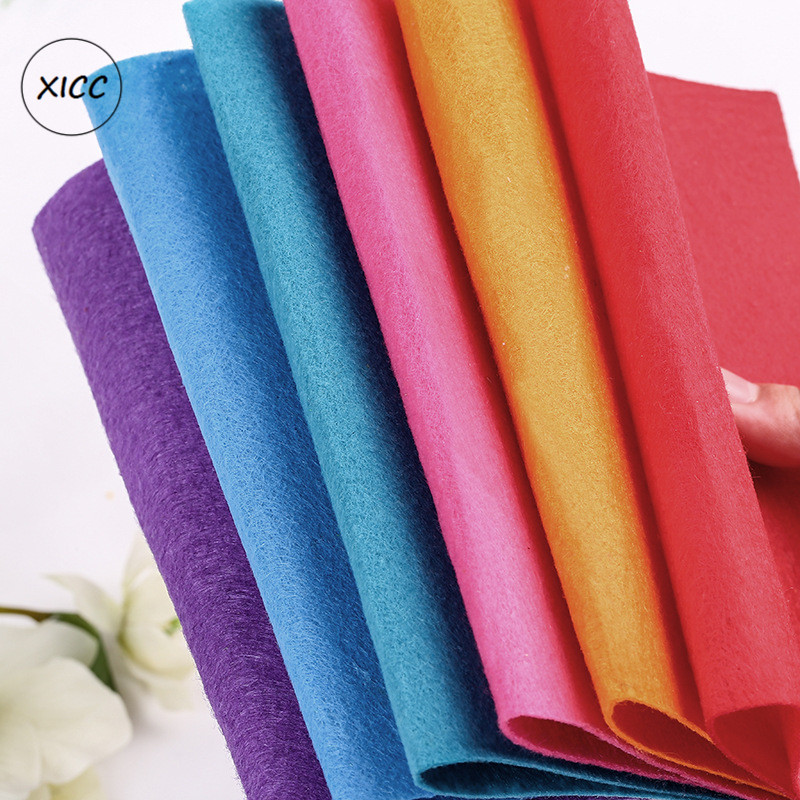XICC Colours 1mm Non Woven Felt Fabric For Nursery School Handmade Flowers Toy Dolls DIY Craft Wall Exhibition Home Decoration