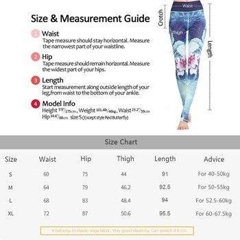 2019 Gym Women Fitness Yoga Pants Slim High waist Sport Leggings Elastic Romantic Printed Long Tights for Running Tummy Control 6
