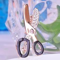 Very Cool Tool Jewelry Scissors Rhinestone Brooches For Men Shiny Brand Gold Pin Brooch Accessories Anniversary Jewellery Broche