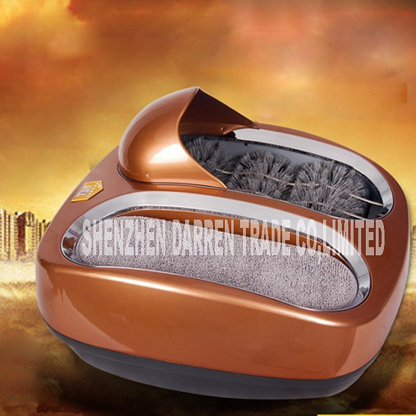 Household Sole Cleaner Intelligent Automatic Shoe Polisher 220V 80W machine for cleaning shoe soles 4 Colors for choose HOT SALE 1 pc 220v 100w automatic shoe machine utilities electric induction luxurious hall household brush shoes