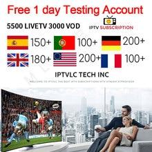 IPTV subscription5500 channels HD Arabic Europe USA Germany Canada Italy Russia Africa France India Latin America smart IPTV M3U