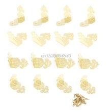 12 Pcs Decorative Jewelry Gift Box Wood Case Feet Leg Corner Protector 25 x 25mm R06 Drop Ship
