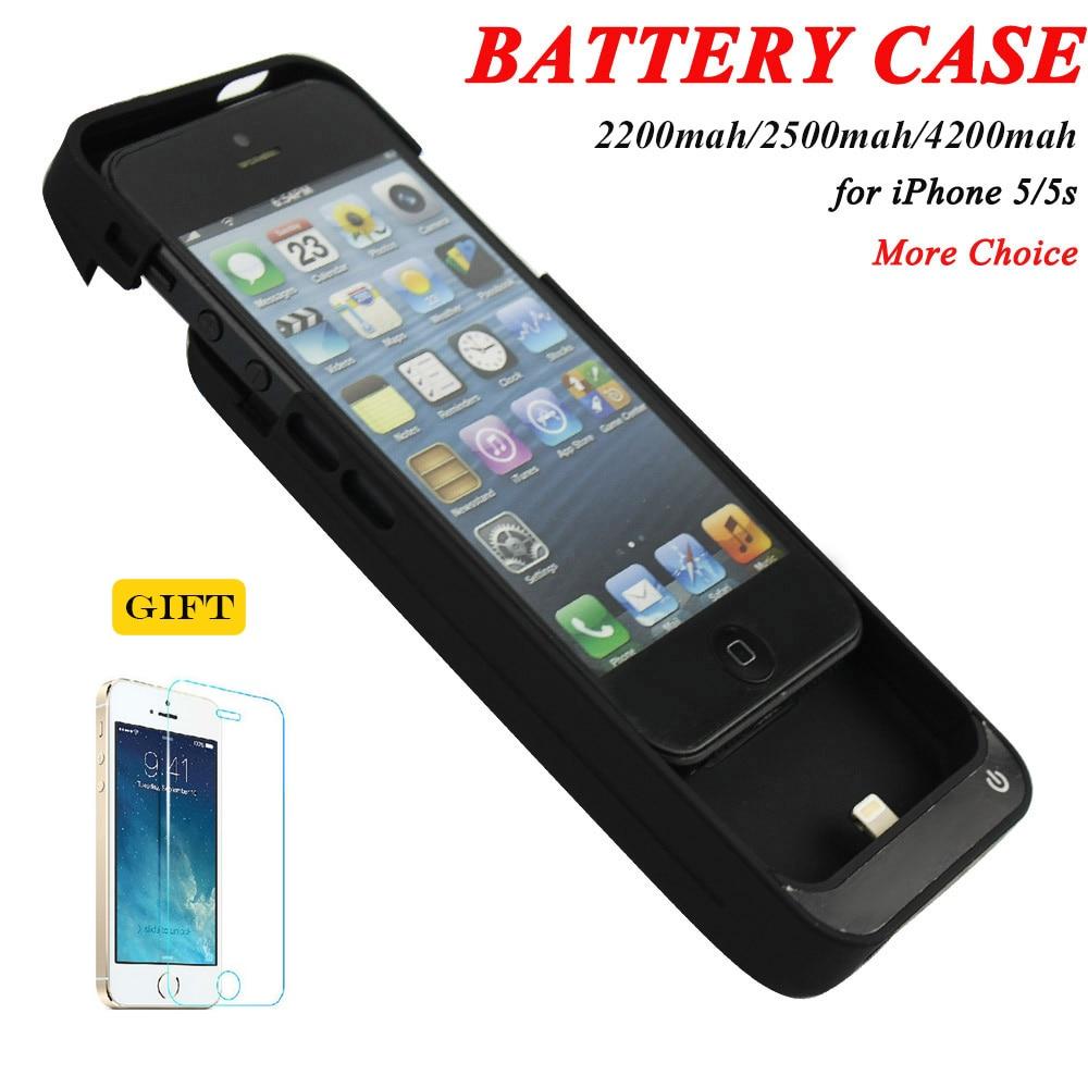 imágenes para 2200 mah y 2500 mah y 4200 mah Portátil Banco de la Energía Del Cargador de Batería de Reserva Externa Paquete de Casos de La Cubierta de Carga para el iphone 5 5C 5S SÍ