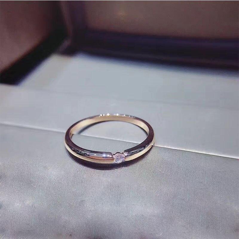 ANI 18K Rose Gold (AU750) Wedding Women Rings Certified I-J/SI 0.031 CT Round Cut Diamond Valentines Promise Ring Wedding BandANI 18K Rose Gold (AU750) Wedding Women Rings Certified I-J/SI 0.031 CT Round Cut Diamond Valentines Promise Ring Wedding Band