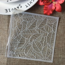 "Buy 5"" Hollow Leaves Texture DIY Layering Stencils Wall Painting Scrapbook Coloring Embossing Album Decorative Paper Card Template directly from merchant!"