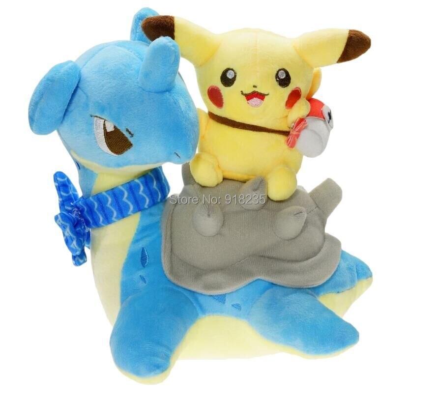 10/Lot Pikachu jazdy Lapras 20 CM pluszowe lalki wypchane zabawki w Filmy i telewizja od Zabawki i hobby na  Grupa 1