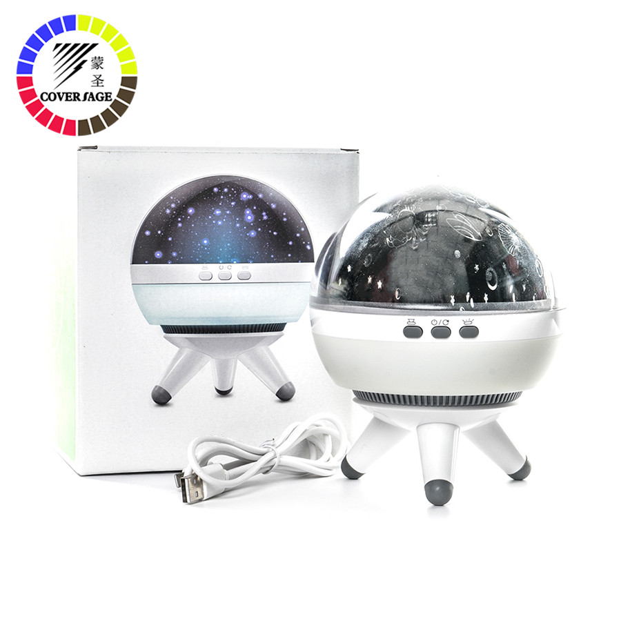 Coversage Rotating Night Light Projector Spin Starry Sky Star Master Children Kids Baby Sleep Romantic Led USB Lamp Projection led colorful star master sky moon night light cosmos projector lamp for baby sleep children gift led projection table lamp
